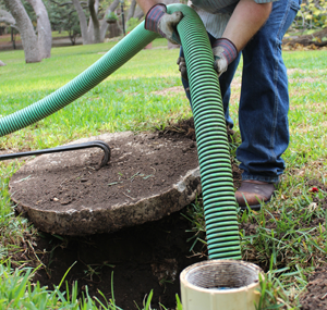 Septic Pumping Green Hose