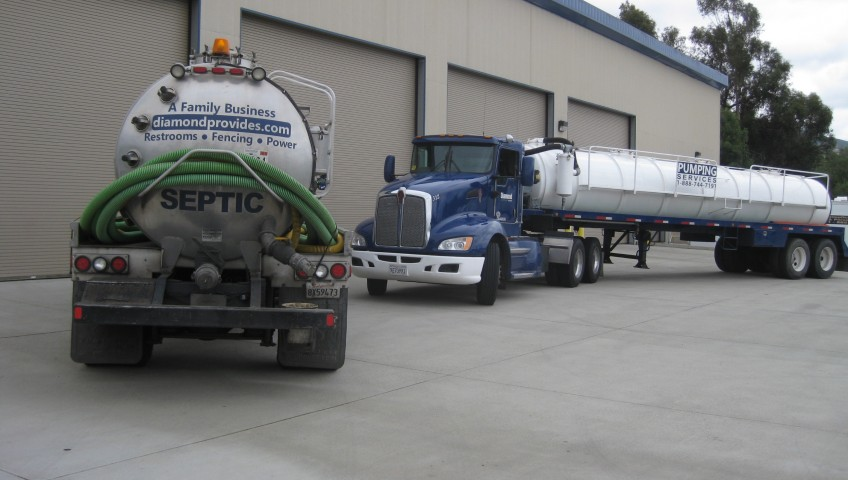 Septic pumping trucks